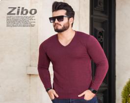 بافت مردانه مدل Zibo (زرشکی)