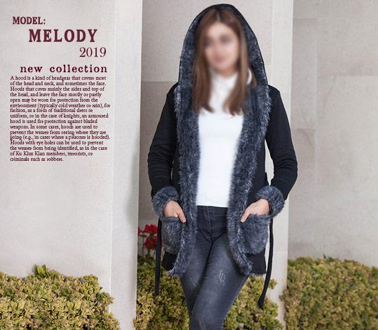 هودی دخترانه مدل Melody (طوسی)