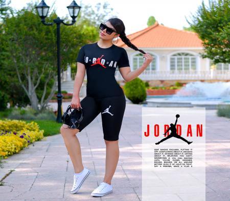 ست تیشرت و شلوارک زنانه Jordan مدل Elizabeth